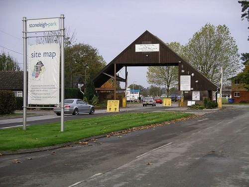 L'entrata allo Stoneleigh Park, nella regione del Warwickshire, in UK.